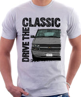 Drive The Classic Chevrolet Astro 2 Early Model. T-shirt in White Colour