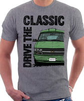 Drive The Classic Chevrolet Astro 2 Starcraft Early Model. T-shirt in Heather Grey Colour
