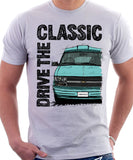 Drive The Classic Chevrolet Astro 2 Starcraft Early Model. T-shirt in White Colour