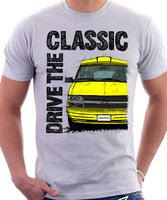 Drive The Classic Chevrolet Astro 2 Starcraft Late Model. T-shirt in White Colour