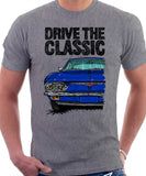 Drive The Classic Chevrolet Corvair 2nd Gen 1965. T-shirt in Heather Grey Color