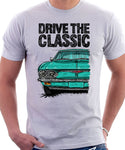 Drive The Classic Chevrolet Corvair 2nd Gen 1965. T-shirt in White Color