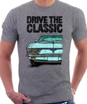 Drive The Classic Chevrolet Corvair 2nd Gen 1966. T-shirt in Heather Grey Color