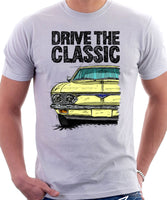 Drive The Classic Chevrolet Corvair 2nd Gen 1966. T-shirt in White Color