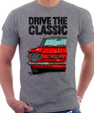 Drive The Classic Chevrolet Corvair 1st Gen 1960. T-shirt in Heather Grey Color