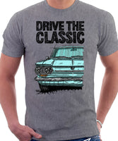 Drive The Classic Chevrolet Corvair 1st Gen 1963. T-shirt in Heather Grey Color