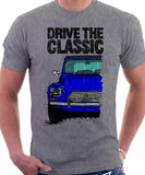 Drive The Classic Citroen Dyane Early Model (Black Roof). T-shirt in Heather Grey Colour