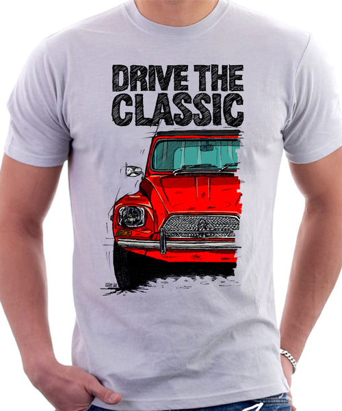Drive The Classic Citroen Dyane Early Model (Black Roof). T-shirt in White Colour