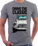 Drive The Classic Citroen Dyane Early Model. T-shirt in Heather Grey Colour