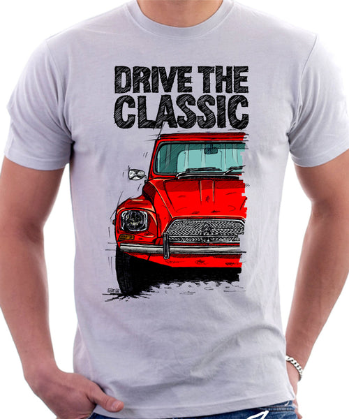Drive The Classic Citroen Dyane Early Model. T-shirt in White Colour
