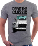 Drive The Classic Citroen Dyane Late Model (Black Roof). T-shirt in Heather Grey Colour