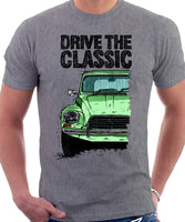 Drive The Classic Citroen Dyane Late Model. T-shirt in Heather Grey Colour