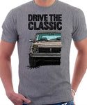 Drive The Classic Lada Niva Early Model. T-shirt in Heather Grey Color