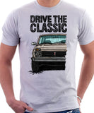 Drive The Classic Lada Niva Early Model. T-shirt in White Color