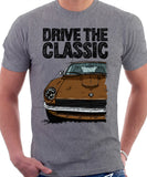 Drive The Classic Datsun 240Z/260Z. T-shirt in Heather Grey Colour
