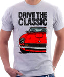 Drive The Classic Datsun 260Z/280Z. T-shirt in White Colour
