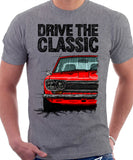Drive The Classic Datsun 510/1600 Grille Version 2. T-shirt in Heather Grey Colour