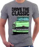 Drive The Classic Ford Anglia 105E. T-shirt in Heather Grey Colour