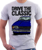 Drive The Classic Ford Capri Mk2. T-shirt in White Colour
