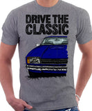 Drive The Classic Ford Capri Mk2. T-shirt in Heather Grey Colour