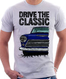 Drive The Classic Ford Cortina Mk1 Early Model. T-shirt in White Colour