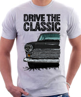 Drive The Classic Ford Cortina Mk1 Late Model. T-shirt in White Colour