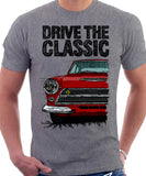 Drive The Classic Ford Lotus Cortina Mk1 Early Model. T-shirt in Heather Grey Colour