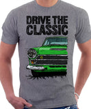 Drive The Classic Ford Lotus Cortina Mk1 Late Model. T-shirt in Heather Grey Colour