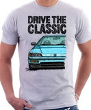 Drive The Classic Honda CRX Si 2nd Gen . T-shirt in White Color.