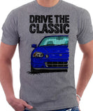 Drive The Classic Honda Del Sol CRX Early Model. T-shirt in Heather Grey Color.