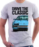 Drive The Classic Nissan 300ZX Z31 Early Model (Black Bumper). T-shirt in White Colour