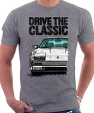 Drive The Classic Nissan 300ZX Z31 Early Model (Black Bumper). T-shirt in Heather Grey Colour.