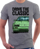 Drive The Classic Nissan 300ZX Z31 Early Model (Colour Bumper). T-shirt in Heather Grey Colour.