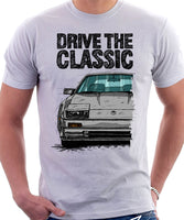 Drive The Classic Nissan 300ZX Z31 Early Model (Colour Bumper). T-shirt in White Colour