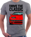 Drive The Classic Nissan 300ZX Z32 Early Model. T-shirt in Heather Grey Colour