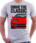 Drive The Classic Nissan 300ZX Z32 Early Model. T-shirt in White Colour