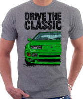 Drive The Classic Nissan 300ZX Z32 Late Model. T-shirt in Heather Grey Colour