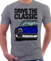 Drive The Classic Porsche 914 Chrome Bumper. T-shirt in Heather Grey Colour
