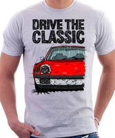 Drive The Classic Porsche 914 Chrome Bumper. T-shirt in White Colour