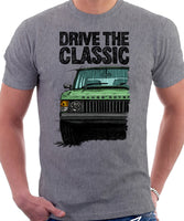 Drive The Classic Range Rover Classic Mid Model. T-shirt in Heather Grey Color.