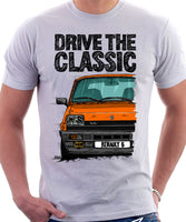 Drive The Classic Renault 5 Alpine Turbo. T-shirt in White Color