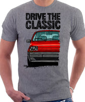 Drive The Classic Renault 5 Late Model. T-shirt in Heather Grey Color