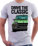 Drive The Classic Renault 5 Turbo ( Black Bumper). T-shirt in White Color