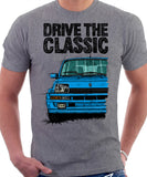 Drive The Classic Renault 5 Turbo (Colour Bumper). T-shirt in Heather Grey Color