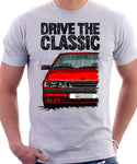 Drive The Classic Saab 9000 Aero. T-shirt in White Colour