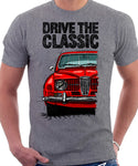 Drive The Classic Saab 96 1964 Model. T-shirt in Heather Grey Colour