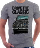 Drive The Classic Saab 96 1969 Model. T-shirt in Heather Grey Colour