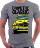 Drive The Classic Saab 96 1974 Model. T-shirt in Heather Grey Colour