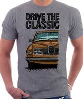 Drive The Classic Saab 96 1978 Model. T-shirt in Heather Grey Colour