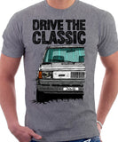 Drive The Classic Fiat Panda Early Model. T-shirt in Heather Grey Colour